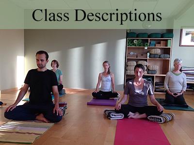 yoga class descriptions